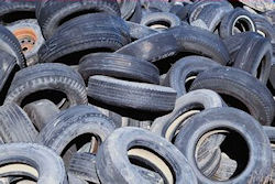 Tires and plastic are converted to oil